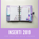 Inserti per l'agenda 2019