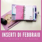 Agenda di febbraio: inserti per la tua personal